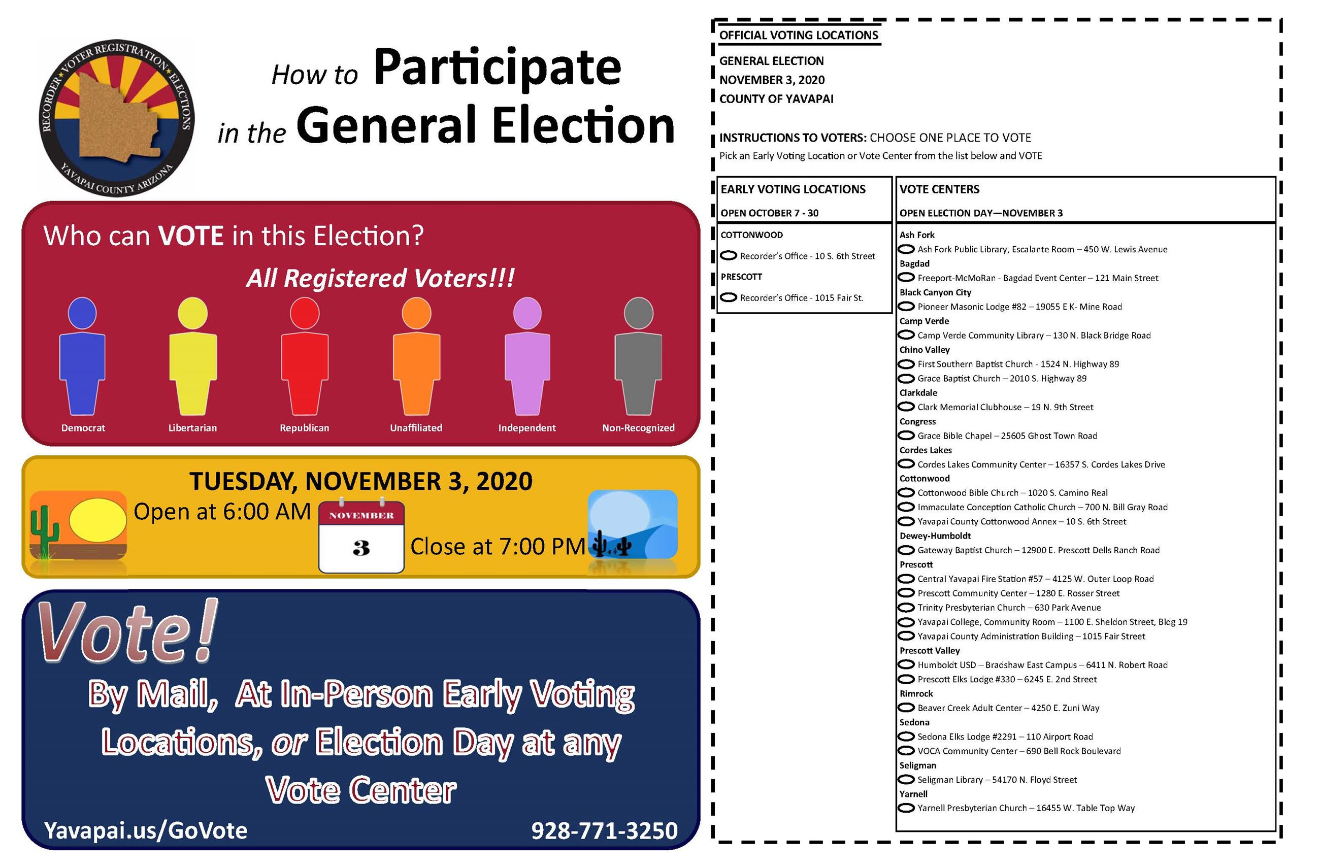 How To Participate in the General Election