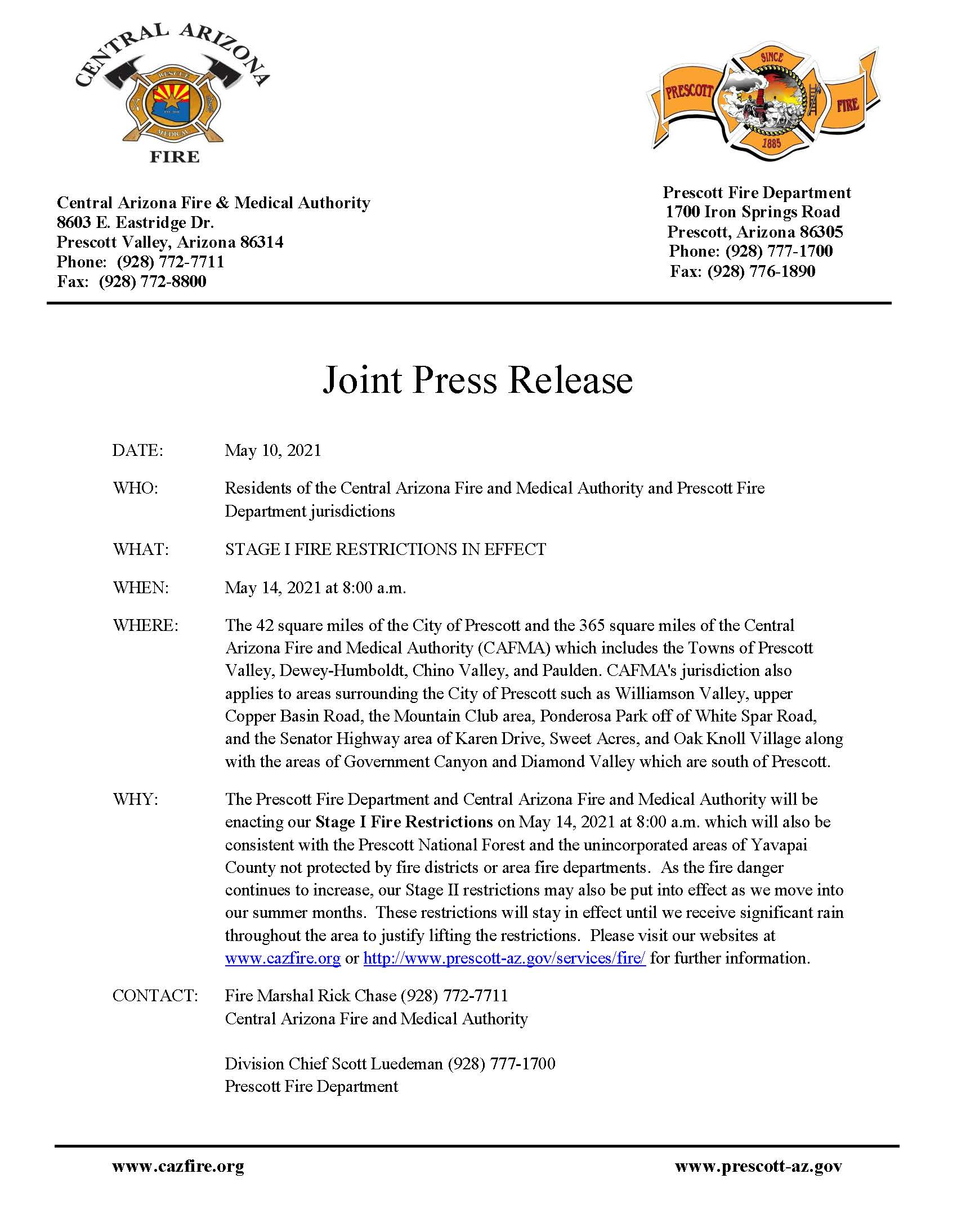 Joint Press Release stage 1 Fire Restrictions 2021 (1)